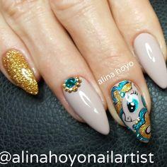 """210 Likes, 2 Comments - Alina Hoyo Nail Artist (@alinahoyonailartist) on Instagram: """"!#alinahoyonailartist#nailart#nails #nailartmagazine #prettynails #nailtime…"""""""