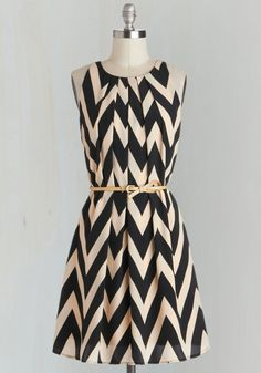 Great Wavelengths Dress in Black, #ModCloth