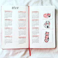 I made a mistake! Apparently one page is enough to fit an entire calendar if it's done in three columns. I made only two columns, so I had to use another page. Oh well, first time grid notebook user. Buti na lang, three fox friends are here to the rescue!🐺💪🏾✨Why foxes? Because in 2017 I literally have no more fox to give.🔥 . . . #vsco #vscocam #journal #bulletjournal #bujo #studygram #studying #moleskine #calligraphy #calligraphyph #doodle #illustration #layout #2017 #calendar #layout…
