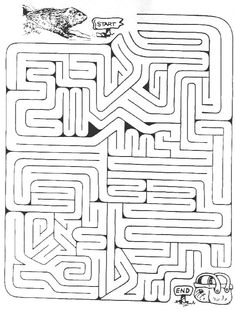 Groundhog Maze - -  Pinned by @PediaStaff – Please Visit http://ht.ly/63sNt for all our pediatric therapy pins