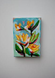 Healing Original Miniature Acrylic Painting by KreativeKatherine, $65.00