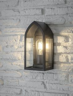 Fairford Outdoor Lantern Light by Garden Trading - Black Outdoor Light Fixtures, Outdoor Lighting, Exterior Lighting, Lighting Ideas, Outdoor Wall Lantern, Outdoor Walls, White Brick Walls, Traditional Exterior, Light Decorations