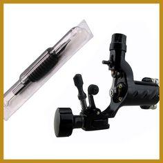 Dragonfly Rotary Tattoo Machine With 1Pcs Disposable Tattoo Needle and Tube 3/4 Grip (19mm) 1RL Tattoo Kits maquinas de tatuajes