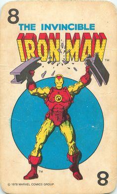 Marvel Comics Super-Heroes Card Game (1978) - Iron Man