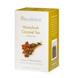 Revolution thee, Honeybush Caramel Dessert. www.koffieblom.nl