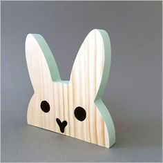 Wooden Projects, Wood Crafts, Toddler Bookcase, Handmade Crafts, Diy And Crafts, Wooden Rabbit, Nautical Nursery Decor, Wooden Rainbow, Moka