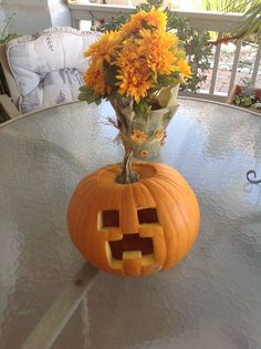 Minecraft is one of the hottest computer games for kids. A mine craft themed jack-o-lantern will get all the kids talking!