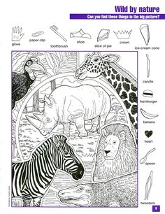 Pictogram Puzzles Printable Wild by Nature Hidden Pictures … Hidden Picture Games, Hidden Picture Puzzles, Hidden Pics, Hidden Object Puzzles, Hidden Objects, Puzzles For Kids, Activities For Kids, Kid Activites, Hidden Pictures Printables