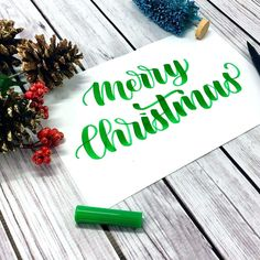 Learn how to letter Merry Christmas with this calligraphy tutorial. Plus get access to a FREE calligraphy practice worksheet. Calligraphy Tutorial, Calligraphy Doodles, Calligraphy Signs, Calligraphy Practice, Merry Christmas Calligraphy, Christmas Typography, Merry Christmas Gif, Christmas Photo Cards, Christmas Phrases