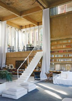 In the Studio With M2Malletier - Ricardo Bofill's dramatic living space, with a staircase leading to the rooftop - The New York Times