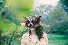 VELVET OWL MASK by TheseWoods on Etsy https://www.etsy.com/listing/124972668/velvet-owl-mask
