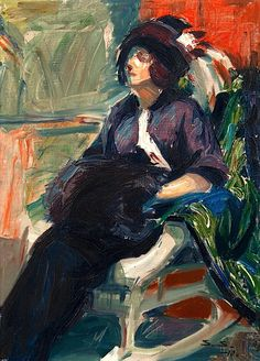 """Lady in a Rocking chair """"Santeri Salokivi (1886-1940) was a Finnish visual artist. Salokivi is particularly known for his impressionist landscape painting."""