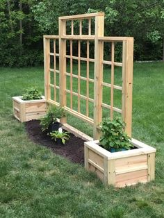 Our HOA doesn't allow privacy fences so this is my first section of non fence. Our HOA doesn't allow privacy fences so this is my first section of non fence. Garden Yard Ideas, Garden Boxes, Backyard Projects, Garden Planters, Outdoor Projects, Lawn And Garden, Garden Projects, Pallet Projects, Privacy Landscaping