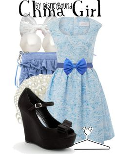 """China Girl"" by lalakay ❤ liked on Polyvore (dress is adorable!)"