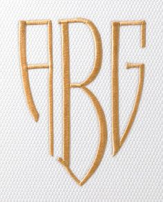 Bentley Couture Monogram...Andrew's initials!