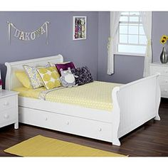Olivia Full Sleigh Bed with Twin Trundle Bed-Costco