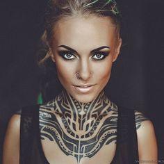 Tattoo model Teya Salat #maoritattoosgirl