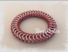 11  Chain Maille Armband  Chainmaille Bracelet von TroisPerles