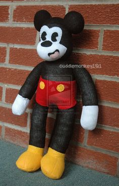 Sock Mickey Mouse by ArtsyAndreaM on deviantART