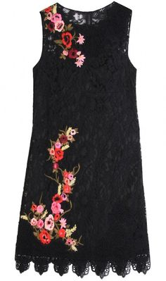 Dolce & Gabbana Resort 2011 Lace Dress With Floral Embroidery