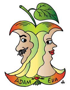 Adam and Eve Cartoon | Cartoon: Adam and Eve (medium) by Alexei Talimonov tagged adam,eve
