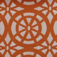 "Beautiful orange fabric ""Dots/circles Mandarin by Duralee"" $65/ yard ouch!"