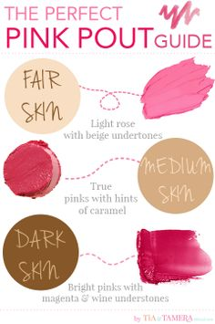 How to find the right shade of pink for your skin tone