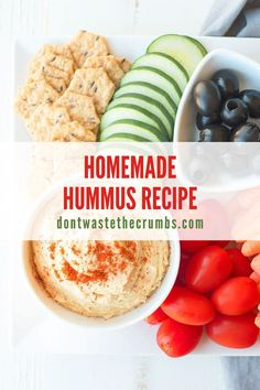 Super easy homemade hummus recipe that is simply the BEST! This recipe is vegan, made without tahini, naturally healthy and classic with a hint of garlic. Make this homemade hummus recipe that is quick and easy to make, super-smooth and creamy, and tastes so fresh and flavorful! #hummus #homemade #vegan #vegetarian Homemade Pita Bread, Homemade Hummus, Best Hummus Recipe, Allergy Free Recipes, Food Staples, Recipes From Heaven, Healthy Snacks For Kids, Tahini, Clean Eating Recipes