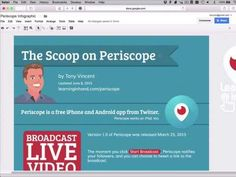 The Scoop on Periscope: Broadcast Live Video to the World — Learning in Hand