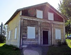 Old CIBC at Historic Nordegg and Brazeau Collieries in Bighorn Backcountry, Alberta, Canada