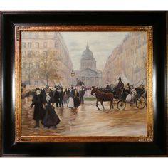 Jean Francois Raffaelli Boulevard Saint-Michel Hand Painted Framed Canvas Art