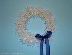 Exquisitely Unremarkable : My After Christmas Blues ~ Snowflake Wreath