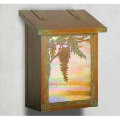 America's Finest Mailboxes Wisteria Wall Mounted Mailbox Finish: Old Brass, Glass Color: Gold Iridescent