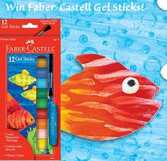 Everybody loves the super trendy Faber-Castell Gel Sticks! Today's giveaway is our 12 ct Gel Sticks. To enter to win, follow us on Pinterest. www.pinterest.com/kidsartproducts. It's that simple! #FaberCastell30 Faber-Castell Gel Sticks glide on paper like magic. With unbelievably smooth color lay-down, gel sticks can be blended to create more colors. You can create watercolor effects by adding water (paintbrush included).