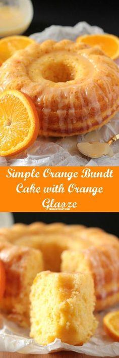 Easy Glazed Orange Bundt Cake