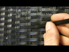 ▶ Fixing Rattan Furniture - How To Repair Rattan Furniture. - YouTube > excellent how-to with close-up pictures but the one I watched had no sound :( and no hint to what kind of epoxy glue that was.