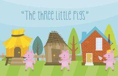 """El cuento de Los tres cerditos en inglés, """"The three little pigs"""" es una manera de practicar el inglés con los niños. ¿Leemos """"Los 3 cerditos"""" en inglés?"""