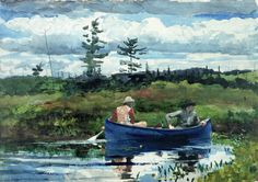 Winslow Homer (American artist, 1836-1910) The Blue Boat