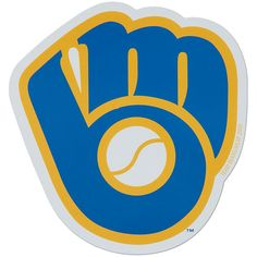 "Milwaukee Brewers 6"" Team Logo Magnet"