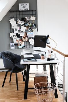 Workspace | Home Office Details | Ideas for #homeoffice | Interior Design | Decoration | Organization | Architecture | Desk | Chair | Decoração | Quarto | Escritório