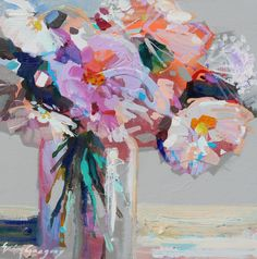 Welcome to the Downtown Charleston fine art gallery of Atelier Gallery, located on King Street in the heart of historic downtown Charleston, South Carolina. Acrylic Painting Flowers, Abstract Flowers, Painted Flowers, Paintings I Love, Floral Paintings, Art Floral, Erin Gregory, Art Bleu, Diy Art Projects