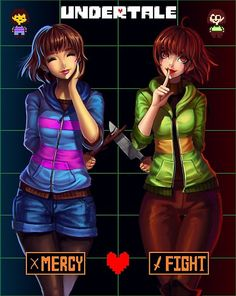 Another Undertale fanart! I love this game so much i have to draw again lol. Which character do you like more?Other character: Undertale Mercy or Fight Comic Undertale, Undertale Memes, Undertale Ships, Undertale Drawings, Undertale Cute, Undertale Fanart, Frans Undertale, Sans E Frisk, Undertale Pictures