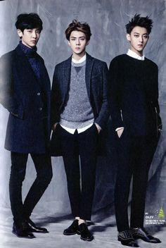 Chanyeol, Sehun, and Tao