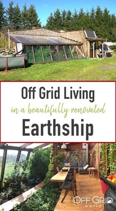 Based in a remote village in Quebec Canada Marie and Francis live off grid in this beautifully renovated earthship They grow their own food collect rainwater utilize sola. Off Grid Tiny House, Off The Grid Homes, Off Grid Cabin, Earth Sheltered Homes, Off Grid Homestead, Homestead House, Bungalow House Plans, Greenhouse Plans, Earth Homes