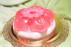 Soap Flower with Cake grapeseed oil