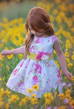 One Good Thread - Persnickety | Kate Dress - Multicolor - Daffodils #onegoodthread #easter tHIS IS SUPER SWEET <3