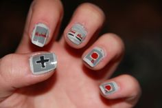 Nintendo nails, and more nerdy nails here