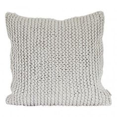 Tell me more Housse de coussin tricot coton - Blanc / Offwhite - Tell Me Pink Cushions, Striped Cushions, Box Cushion, Cushion Covers, White Rope, Decorative Cushions, Cotton Rope, Chair Pads, White Cotton