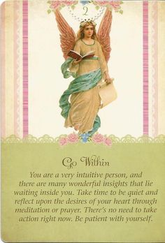 Go Within, Guardian Angel Tarot, Doreen Virtue