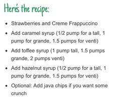 Starbucks Secret Frappuccino Menu: captain crunch